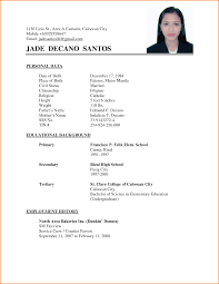 sample format of simple resume best almarhum sample format of simple resume 73 simple resume templates o hloom example of simple filipino resume