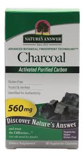 <b>Charcoal Activated Purified</b> Carbon 560mg - 90 Capsules ...