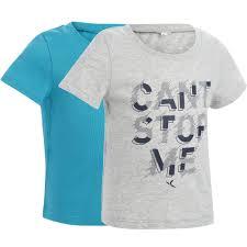Комплект из 2 <b>спортивных футболок</b> для малышей 100 | <b>Domyos</b> ...