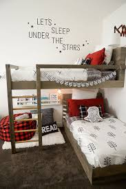 a cute lumberjack room makeover amazing twin bunk bed
