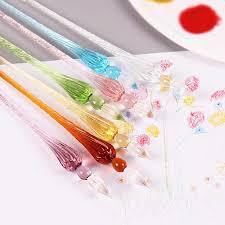 1 PC New Creative <b>Crystal Glass</b> Dip <b>Pen Signature Pen Pen</b> ...