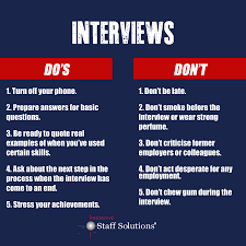 5 interview do s and don ts