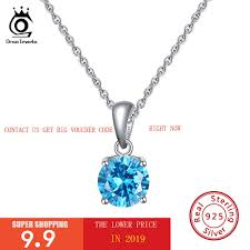 <b>ORSA JEWELS</b> Real <b>S925 Sterling</b> Silver Necklace with Birthstones ...