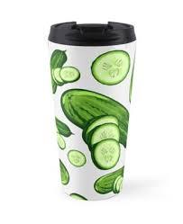 """Veggiephile - Cucumbers"" Travel <b>Mug</b> by hyperite | Redbubble"
