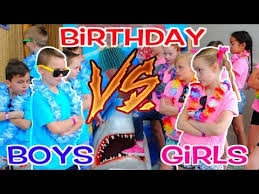 BOYS vs <b>GIRLS</b>! Twins <b>Birthday Party</b> Challenge! <b>Kids</b> Fun TV ...
