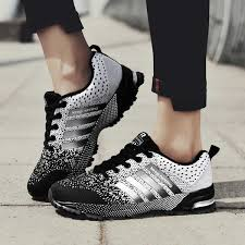 Casual Sport Shoes for Men & <b>Women Breathable Fly Knit</b> Running ...