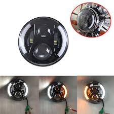 7'' led Projector <b>headlights</b> H4 Driving lights 7 inch Housing bucket ...