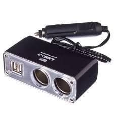NEW GALAXY <b>Разветвитель прикуривателя 2</b> гнезда + 2 USB, 3,1A