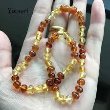 Yoowei Baby <b>Amber</b> Teething Necklace for Gift <b>Genuine</b> Bead ...