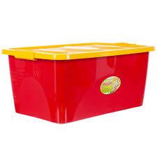 Ящик для <b>игрушек</b> 600x400x280 мм, 44 л, цвет красно-жёлтый в ...