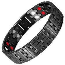 Магнитный браслет <b>мужской</b> Aura active black. Браслет от ...