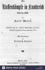 the classwar in title page of karl marx book stock photo the classwar in title page of karl marx 1895 book forward by engels