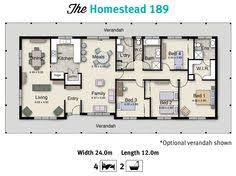 If you have a wide or acreage block of land  the Stockton is    The Homestead is one of our acreage home floor plans