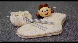 Вяжем <b>детские</b> носочки спицами. Носочки на любой размер ...