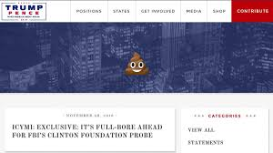 someone took a shit on donald trump s website · great job someone took a shit on donald trump s website · great job internet · the a v club