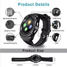 <b>LEEHUR V8 Bluetooth Smart</b> Watch Band Touch Screen Wristband ...