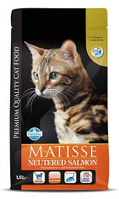 Farmina <b>Matisse</b> Dry Cat Food, <b>Neutered</b> Adult, 1.5-kg, <b>Salmon</b> ...