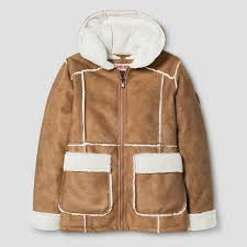 <b>Urban Republic</b> Girls' Shearling <b>Jacket</b> with Hood - Caramel Tan ...
