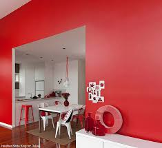 room paint red: red wall paint for living room decorating