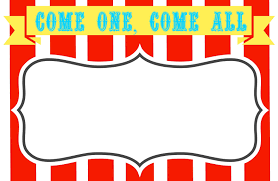 printable carnival tickets co blank circus invitations templates clipart best