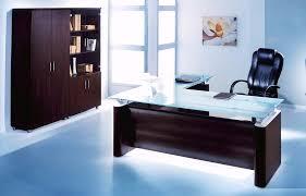 more views blue glass top modern office