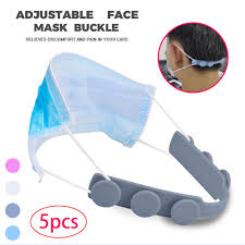 5pcs/lot Mask Holder Third Gear <b>Adjustable Anti slip Mask Ear</b> Grips ...
