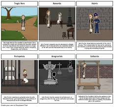 tragic hero the crucible storyboard by dmeyerriecks