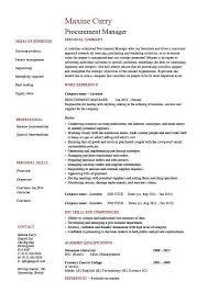 procurement manager cv template job description sample resume contract manager job description
