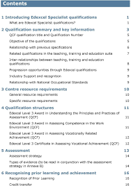 edexcel level awards and certificate in assessing the quality of in the teaching training and education suite 7 inter relationships between teaching training