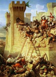 where do the white middle ages come from the public medievalist siege of acre by dominique papety c 1840 art depicting the crusades such as this became popular in the 19th century and was steeped in racist