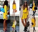 С чем одевать желтое платье