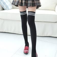 <b>1 Pair Striped</b> Socking Girls Comfortable Soft Womens Sexy ...