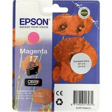 Оригинальный <b>картридж Epson</b> T1703 (пурпурный) Пурпурный ...