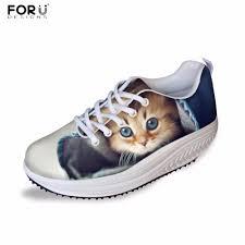 FORUDESIGNS Cute Women Fashion Casual Flats Shoes <b>3D</b> ...
