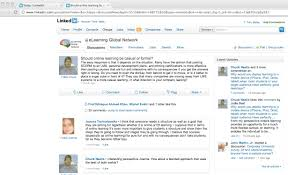 linkedin as a community of practice for online learning tony bates linkedin is beginning to develop as an interesting area for discussions on online learning i ve been lurking in the discussions below and i m sure there