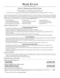 event manager resume sample best resume sample event manager resume skills management resume samples 2016 intended for event manager resume sample