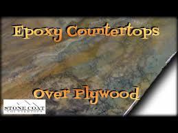 Epoxy Countertops Over Plywood - YouTube