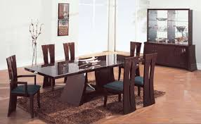 Contemporary Black Dining Room Sets Gusta Modern Black Chairs And Glass Top Dining Room Tables