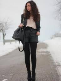 Кожаные <b>шорты</b> в тон колготок | <b>брюки</b> | Кожаные <b>шорты</b> ...