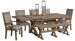 seven piece dining set: seven piece rustic dining set with bench