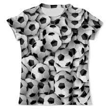 Футболка с полной запечаткой (мужская) <b>Футбольный мяч</b> ...