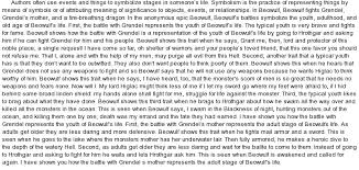 beowulf  symbolism of at essaypedia comessay on beowulf  symbolism of