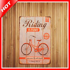 home decor plate x: riding is fun band chic home bar vintage metal signs home decor vintage tin signs pub