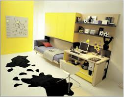 decorating ideas cool white yellow small: small teen girls room with yellow wall paint color and white study des