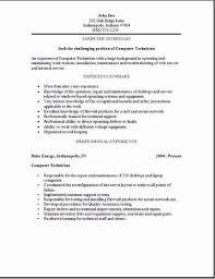 resume  sample computer  seangarrette coresume