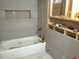 tile board bathroom home: with the cement board all installed i was ready to finish closing up the walls with drywall i had only one problem no  quot drywall at home