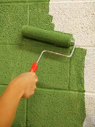 Image result for painting concrete walls