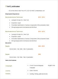 basic resume template –    free samples  examples  format    free basic resume template