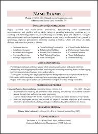 Sample Resume For Customer Service  customer service     happytom co Resume Summary Examples Customer Service   sample resume for customer service