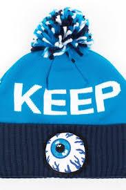 Шапка <b>MISHKA Keep</b> Watch Knit Pom Beanie (Cyan) | www.gt-a.ru